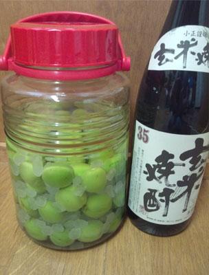 玄米焼酎梅酒
